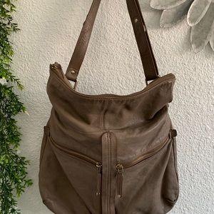Banana Republic leather tan hobo purse